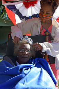 Bernice was crowned queen for the day. Most of us know that she is the queen every day.