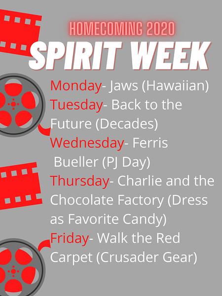 SPIRIT WEEK POSTER