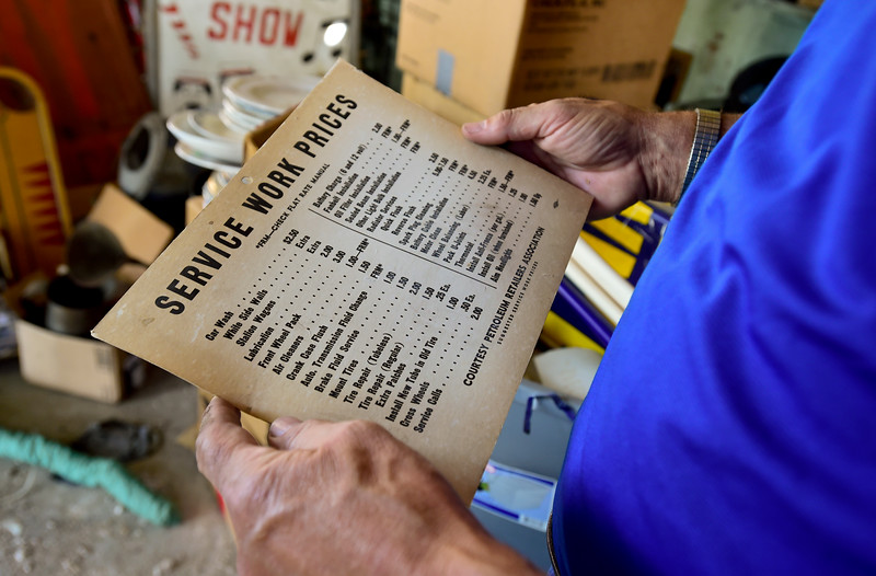 Pacific Auction Cataloging Items at Ralph Castle Gas Station