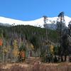 Looking back east towards Clark Peak