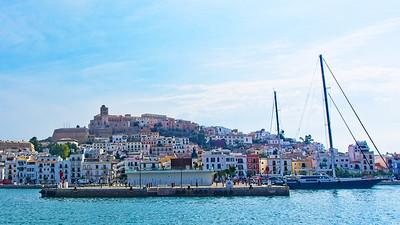 Dalt Vila towering above Ibiza town