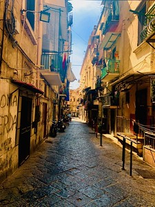 Early morning on the streets of Naples