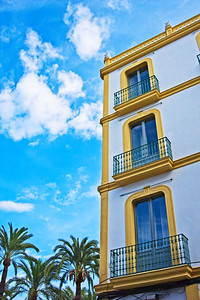 Colourful Ibiza town