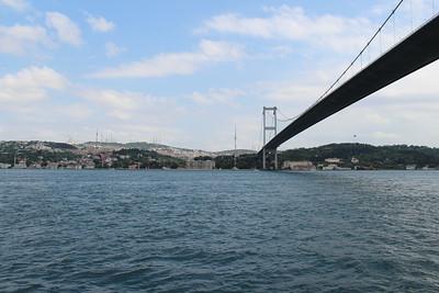 Cruising the Bosphorus in Istanbul