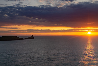 Sunset on Worms Head