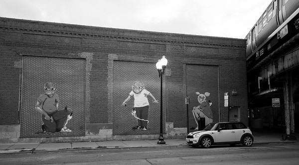 Mural in Lincoln Square