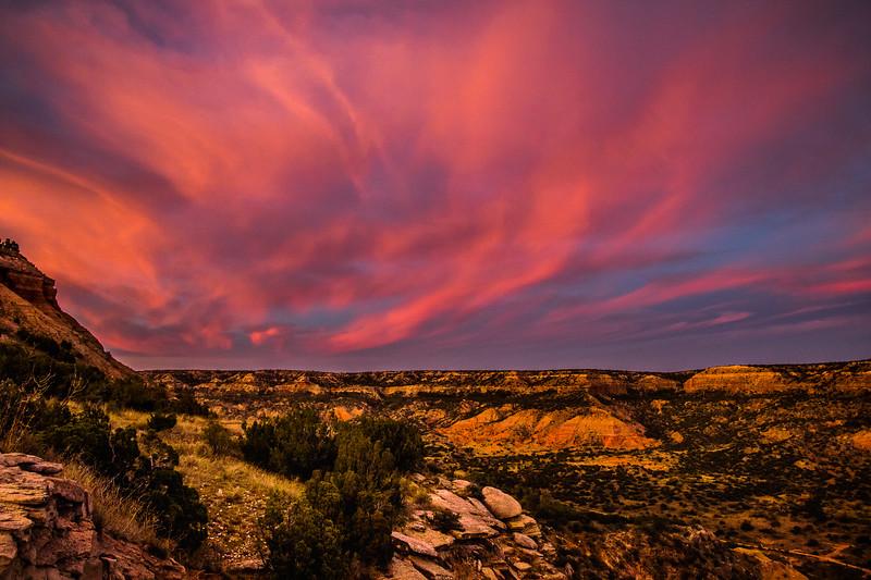 Sunset Over Palo Duro Canyon