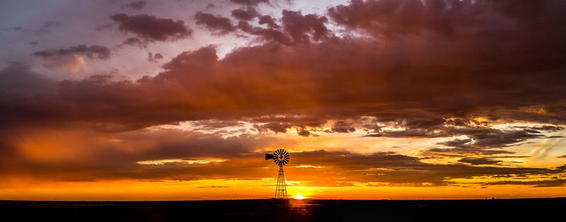 Sunset Panorama near Panhandle, Texas