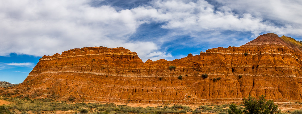 Eroded Ridgeline Near Capitol Peak, Palo Duro Canyon State Park