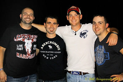 Jody Vincent, Matt Mazerolle, Tristan Horncastle and Andrew Kenney at LBs.