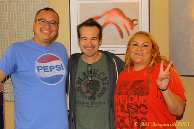 Wally Desjarlais & Lady Angela with Sean Hogan at CFWE