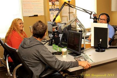 Sean Hogan with Lady Angela and Wally Desjarlais at CFWE.