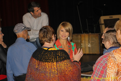 Lisa Hewitt greets her fans after the show