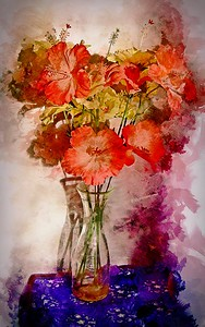 Vase of Artificial Flowers. 1.