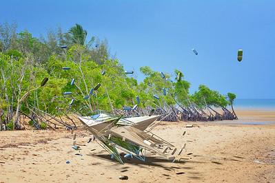 Crash Landing on a North Queensland Beach.