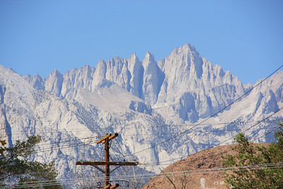 Close up of Mount Whitney