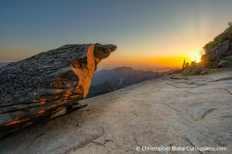 Sun Rays - Hanging Rock