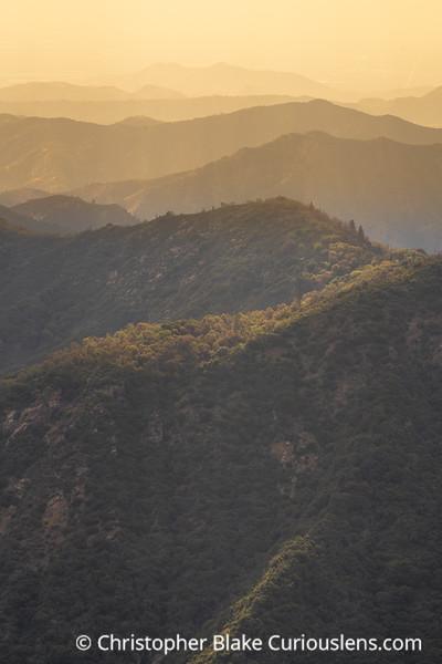 Haze and Mountains - Sequoia
