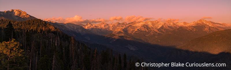 Sequoia Mountains Sunset