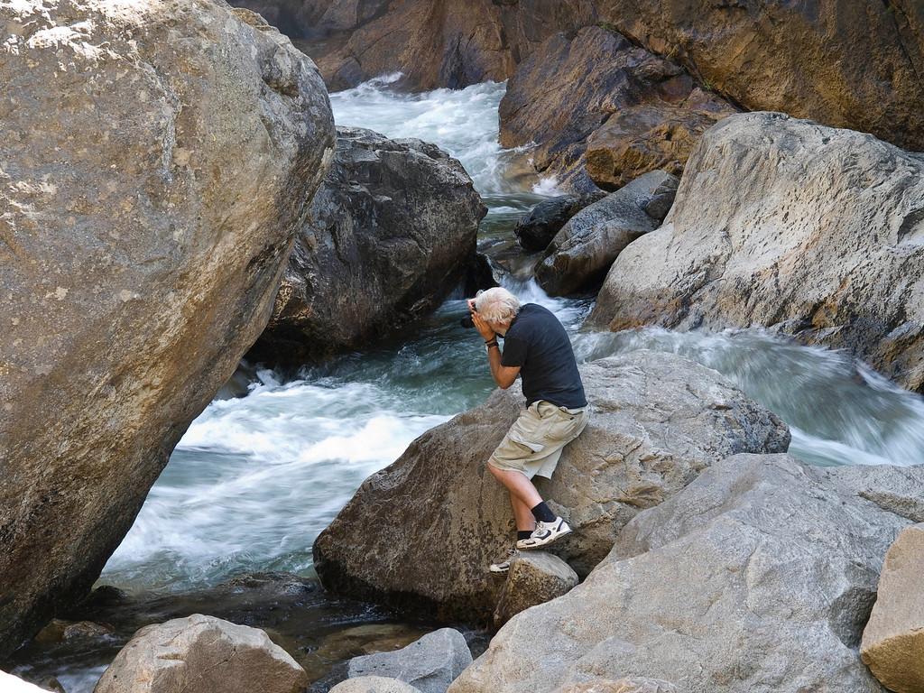 David Muench shooting at Roaring River Falls