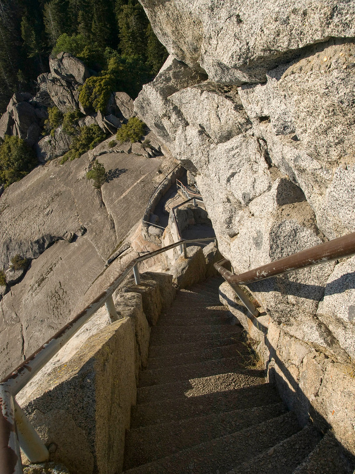 A few of the many stairs to the top of Moro rock.