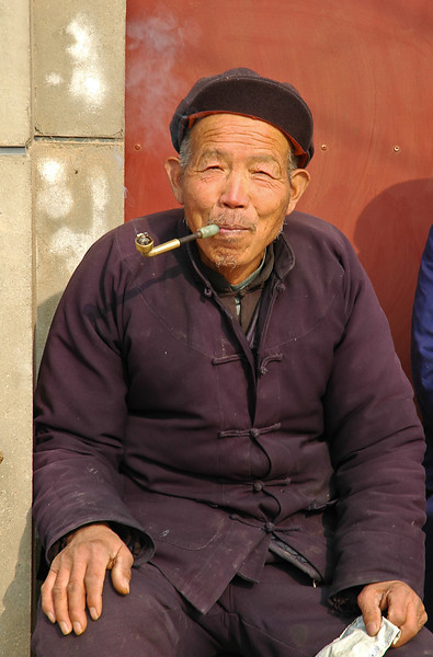 Xian Farmer with Pipe