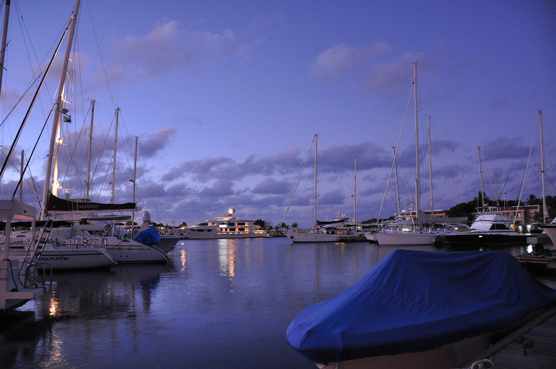 Dawn on our day of departure from the Harbour Marina, Bonaire, Netherlands Antilles