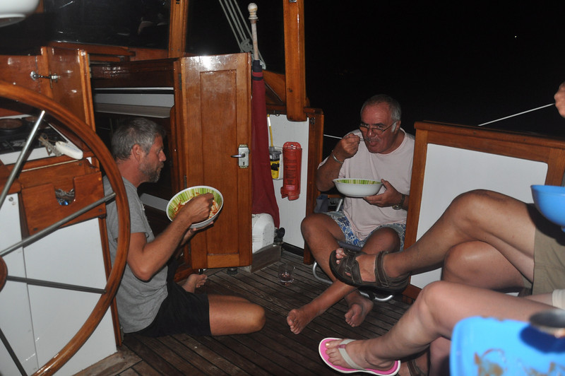First meal after our arrival at the San Blas Islands