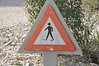 Beware divers crossing the road