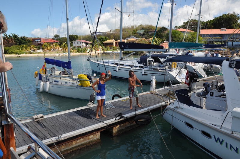Goodbye to True Blue Bay and the aptly-named Dodgy Dock