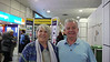 Ian & Sheila about to leave Gatwick for Grenada on a 'direct' BA flight via Antigua