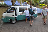 Henry's Safari Tours arrives to take us`on a tour of Grenada