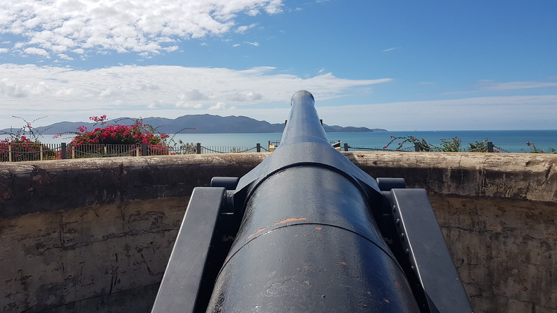 """Kissing Point""  WW11 defences looking out to Magnetic Island."