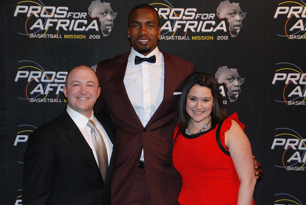 Serge Ibaka - Pros For Africa Dinner - 2/21/14