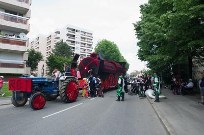 La Locomotive de Sergy au départ du défilé.