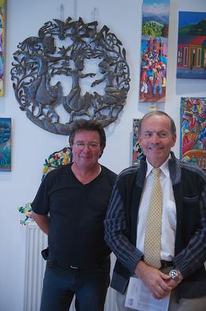 Denis Linglin & Roger Delachenal du comité des fêtes.