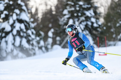 Mont-Tremblant, QC, Canada - February 22 2020:   Serie Des Etoiles GS at Tremblant  Photo par:  Gary Yee