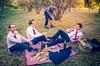 Déjeuner d'affaires sur l'herbe