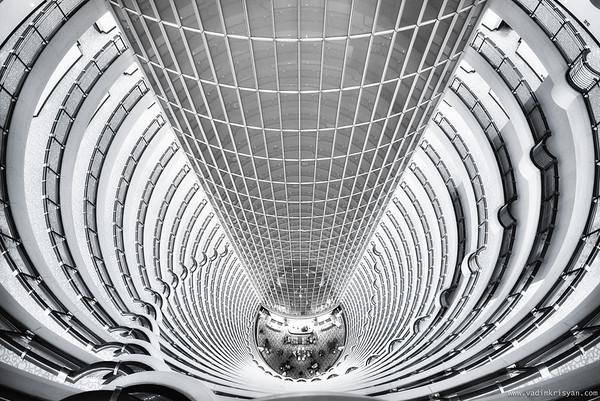 Inside the Jin Mao Tower, Shanghai, 2016