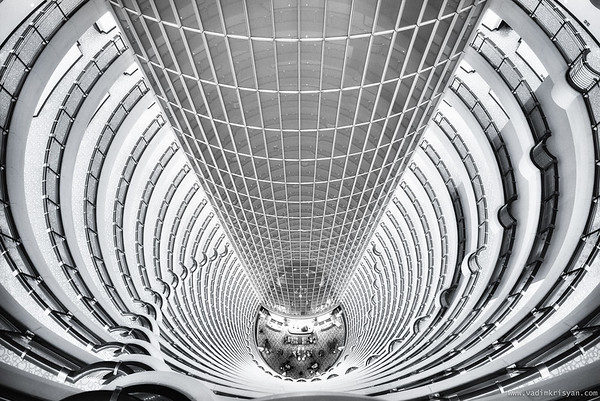 Inside the Jin Mao Tower, Shanghai, 2016