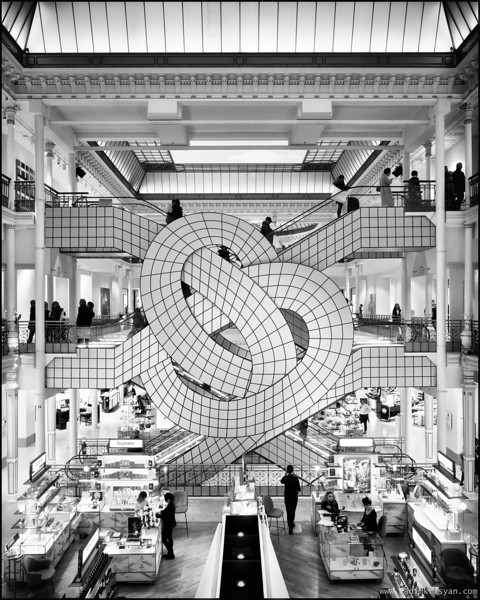 Le Bon Marche with Leandro Erlich Installation, Paris, 2018