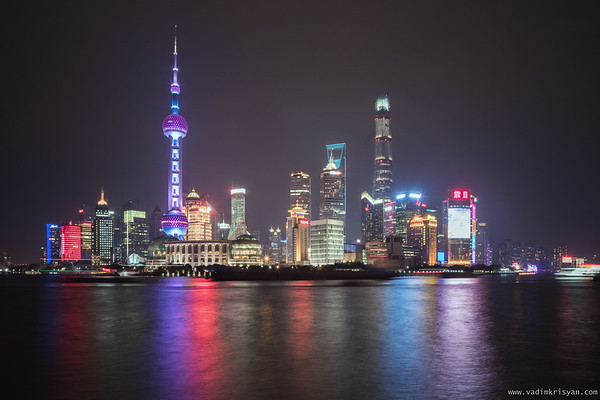 Pudong at Night from the Bund, Shanghai, 2016