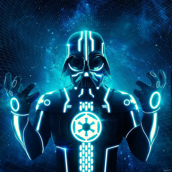 Blue Tron Vader