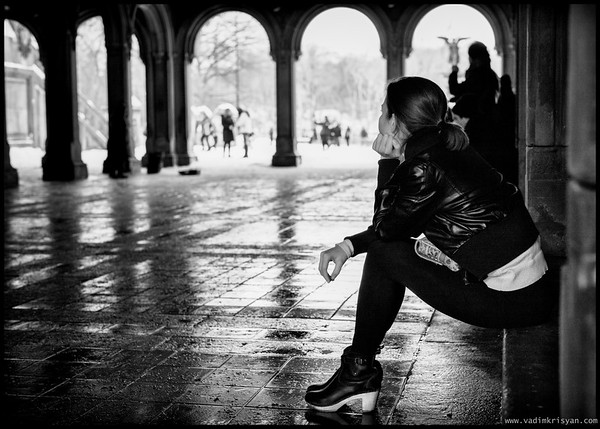 Thinking, Central Park, NYC,2015