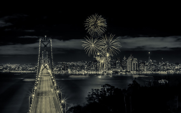 Gotham New Years Fireworks