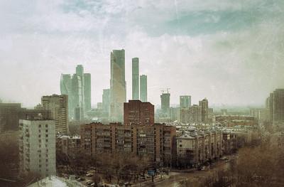 Москва, вид на Москва Сити