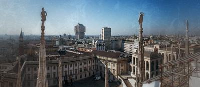 Милан, вид с Миланского собора