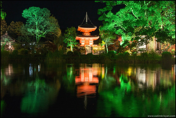 Daikaku-Ji Temple, Foliage Night Illumination, Kyoto,2015