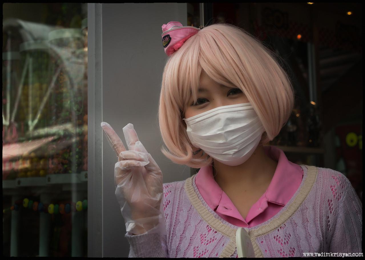 Harajuku Candy store Hostess, Tokyo,2014