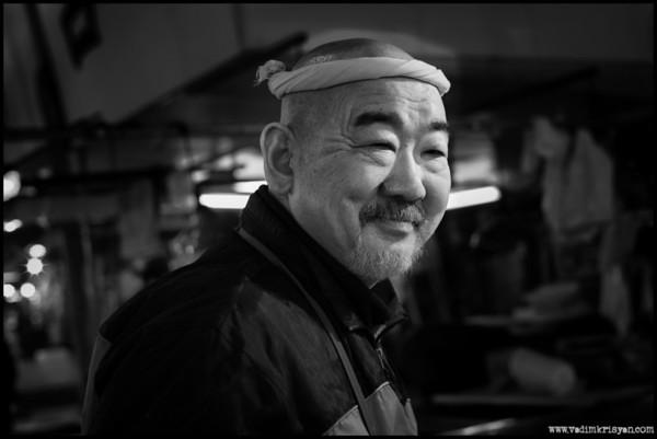 Fish retailer, Tsukiji Markets, Tokyo, 2014
